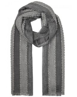 Grey Panelled Scarf