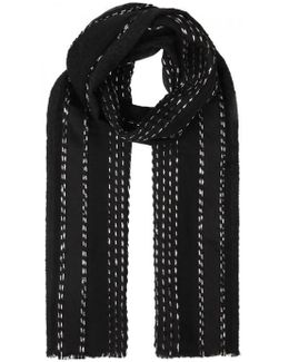 Black Panelled Scarf