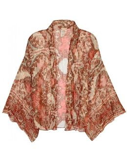 Fleur De Lis Chiffon Kimono Jacket