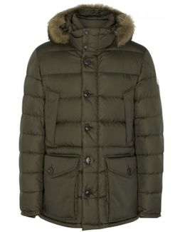 Cluny Fur-trimmed Quilted Shell Jacket