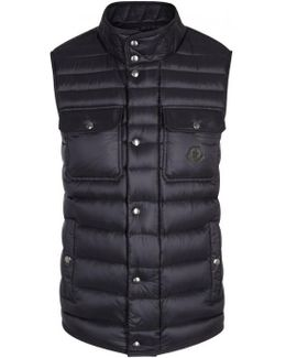 Ever Navy Quilted Shell Gilet