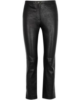 Black Slim-leg Leather Trousers
