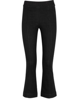 Black Cropped Denim Trousers