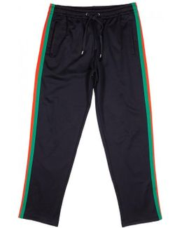 Midnight Blue Striped Jogging Trousers