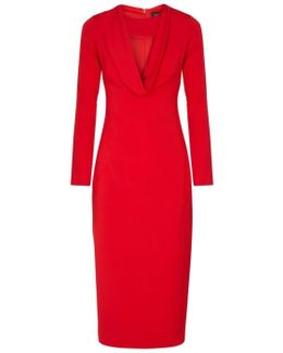 Rhys Red Cut-out Midi Dress
