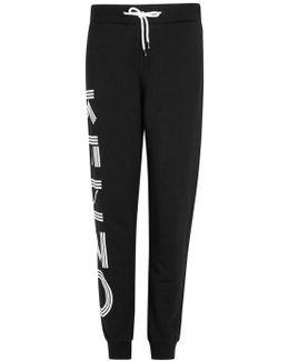 Black Logo Jersey Jogging Trousers