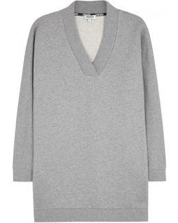 Grey Logo-print Cotton Sweatshirt
