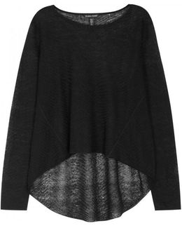 Black Fine-knit Jumper
