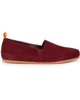 Burgundy Suede Loafers