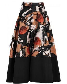 Sharpin Silk Blend Jacquard Skirt