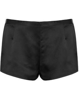 Black Silk Shorts
