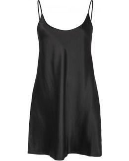 Black Silk Slip Dress