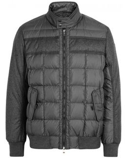 Aramis Wool And Quilted Shell Jacket