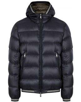 Jeanbart Navy Quilted Shell Jacket