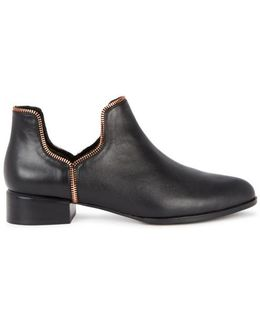 Bailey Viii Black Leather Ankle Boots