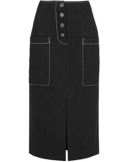 Carmen Black Midi Skirt