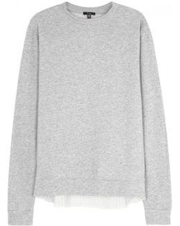 Grey Pinstriped Jersey Sweatshirt