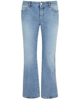 Light Blue Kick-flare Jeans