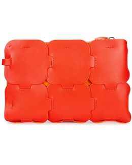 Dragonne Orange Leather Pouch