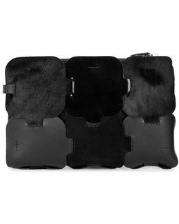 Dragonne Black Leather Pouch