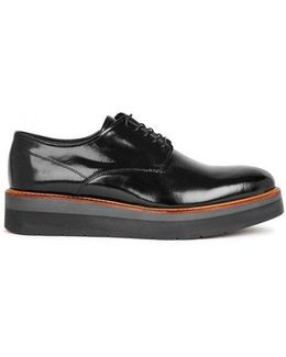 Drystan Black Glossed Leather Brogues
