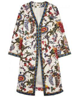 Rylie Embellished Linen Coat