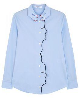 Bonn Blue Stretch Cotton Shirt
