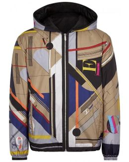 Printed Reversible Shell Windcheater
