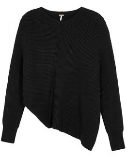 Downtown Asymmetric Ribbed Jumper