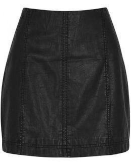 Modern Femme Faux Leather Mini Skirt