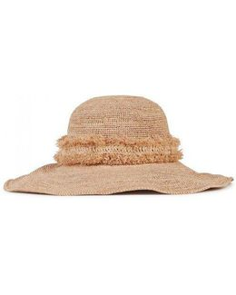 Palm Desert Beach Sand Raffia Hat