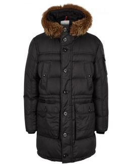 Affton Black Quilted Shell Parka