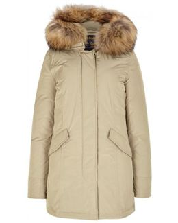 Luxury Arctic Fur-trimmed Shell Parka