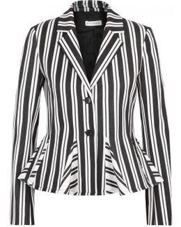 Clary Striped Wool Blend Blazer