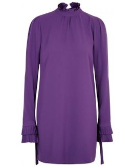 Poly Purple Mini Dress