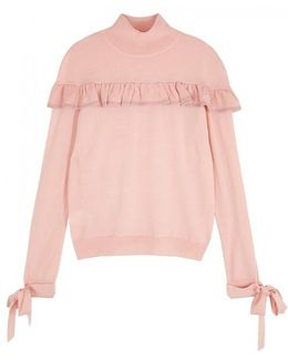 Accanto Pink Wool Blend Jumper