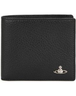 Black Grained Leather Wallet