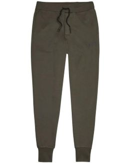 Dark Olive Jersey Jogging Trousers