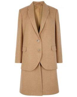 Camel Hair Twill Coat
