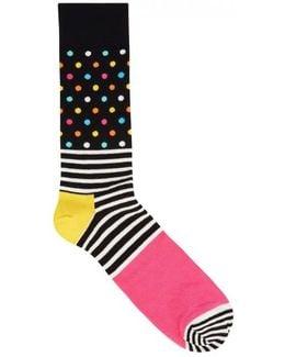 Polka-dot And Striped Socks