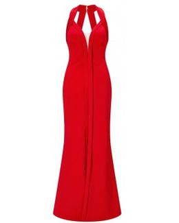 Halter Neck Evening Dress