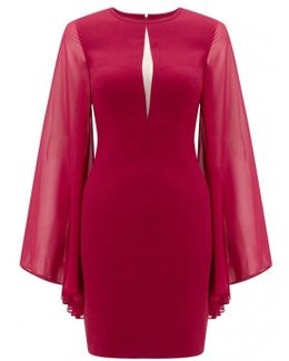 Wide Sleeve Cocktail Dress