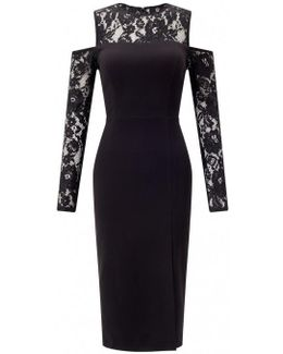 Lace Sleeve Evening Dress