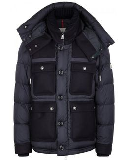 Rillieux Navy Quilted Shell Jacket
