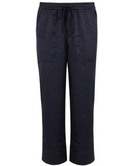 Anelise Cropped Satin Trousers