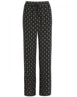 Florencia Printed Silk Trousers