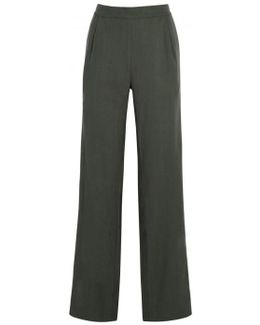 System Charcoal Slouchy Silk Trousers - Size S