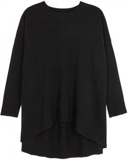 Black Oversized Cashmere Blend Jumper