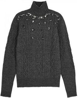 Nisiros Embellished Wool Blend Jumper