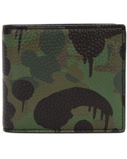 Camouflage Leather Wallet